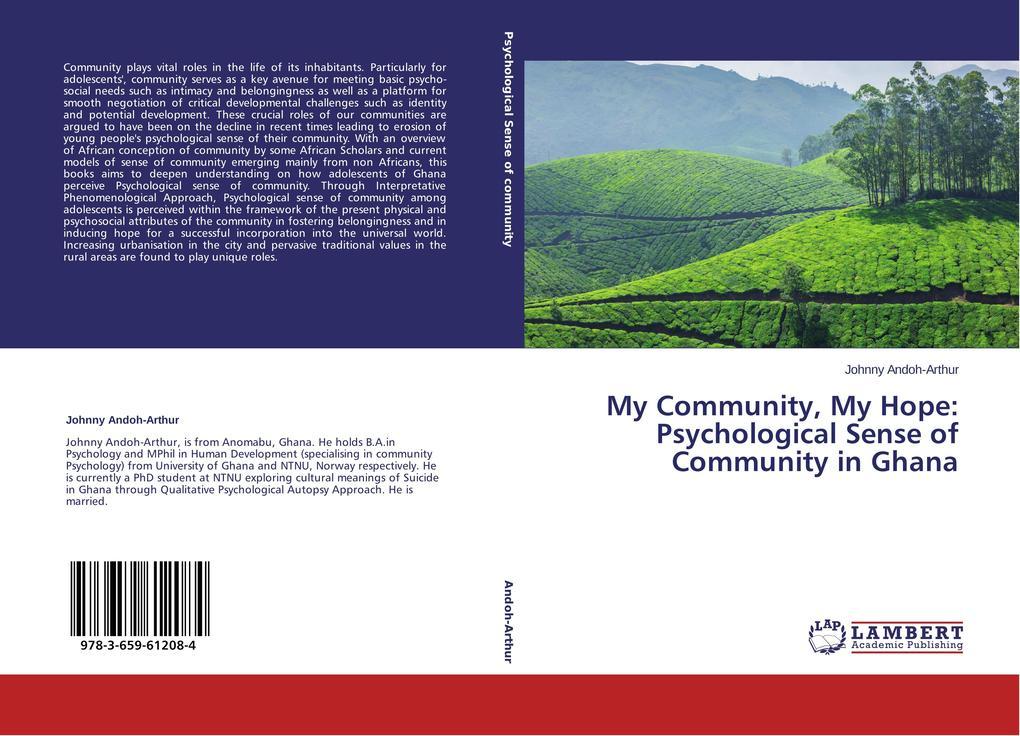 My Community, My Hope: Psychological Sense of C...