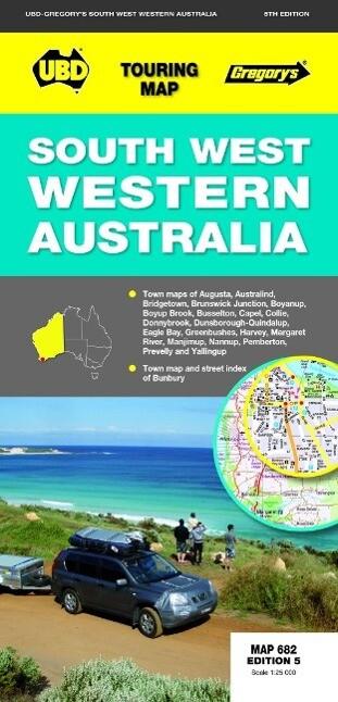 South-West Western Australia Map 682 5th ed als Blätter und Karten