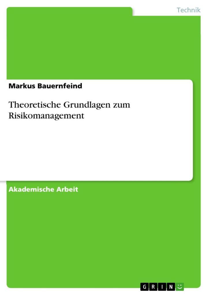 Theoretische Grundlagen zum Risikomanagement als eBook epub