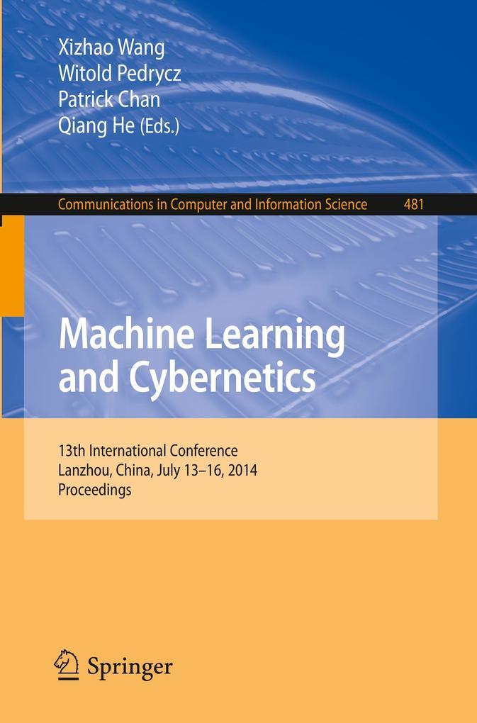 Machine Learning and Cybernetics als Buch (gebunden)