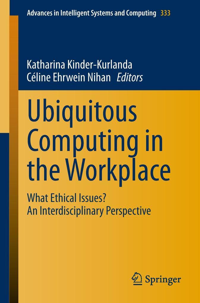 Ubiquitous Computing in the Workplace als Buch (gebunden)