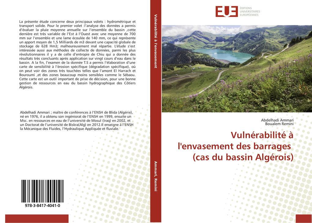 Vulnérabilité à l'envasement des barrages (cas du bassin Algérois) als Buch (gebunden)