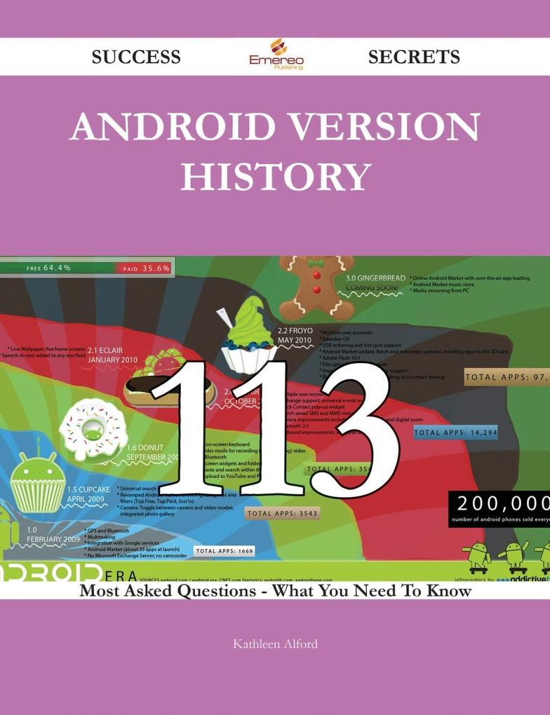 Android version history 113 Success Secrets - 1...