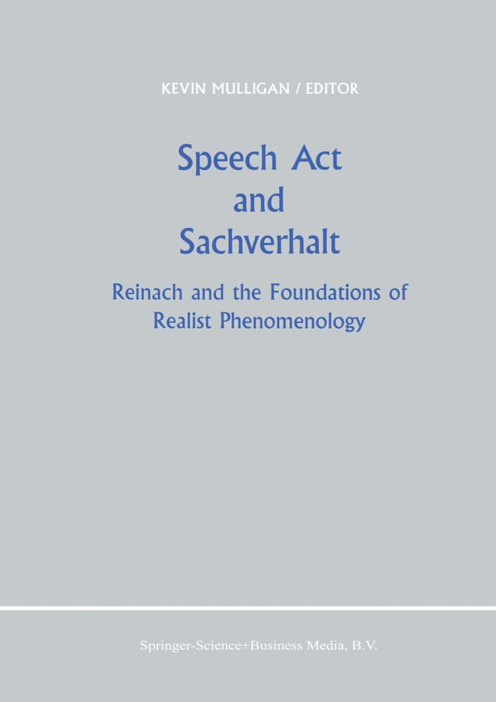 Speech Act and Sachverhalt als Buch