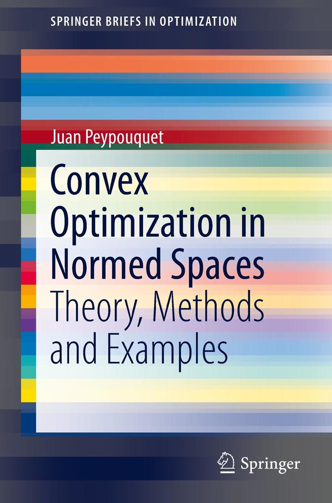 Convex Optimization in Normed Spaces als Buch (gebunden)