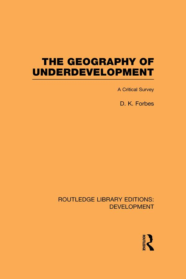 The Geography of Underdevelopment als eBook epub