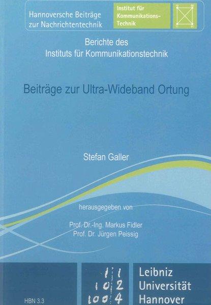 Beiträge zur Ultra-Wideband Ortung als Buch (gebunden)