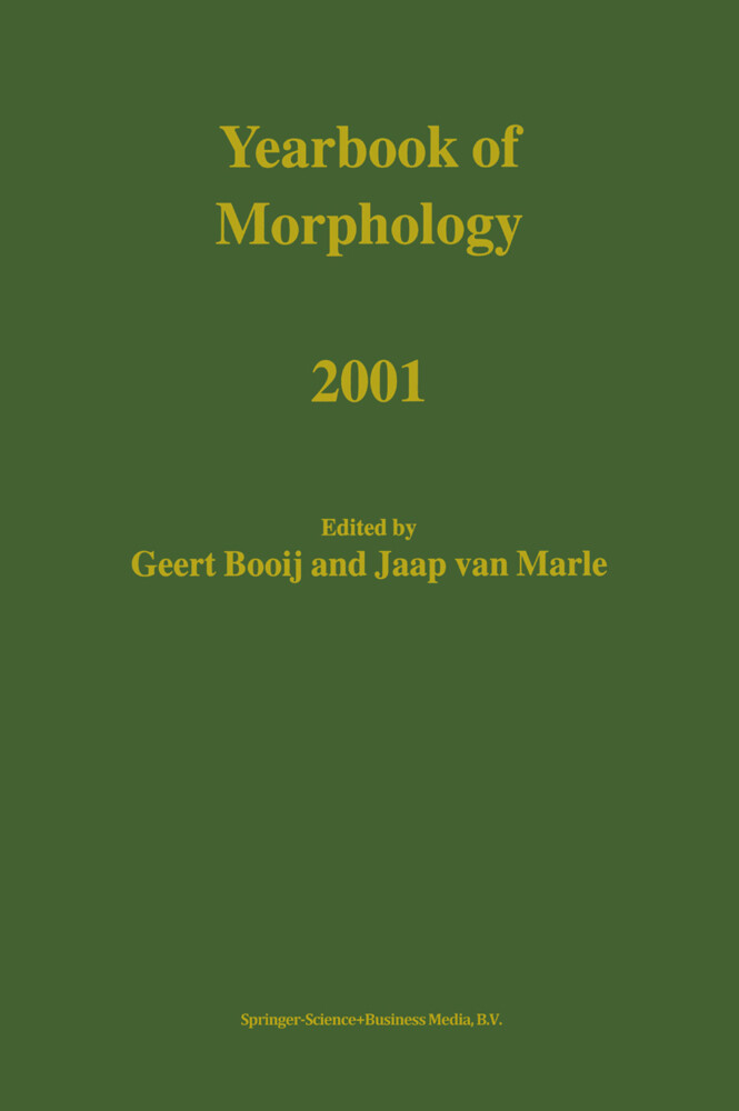 Yearbook of Morphology 2001 als Buch