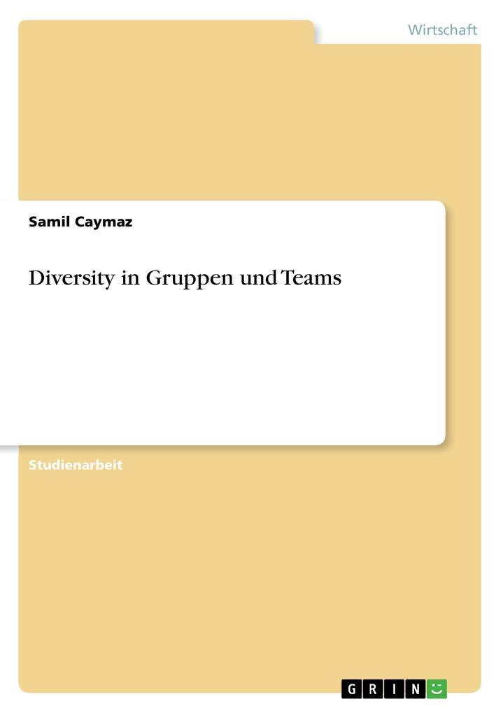 Diversity in Gruppen und Teams als Buch (gebunden)