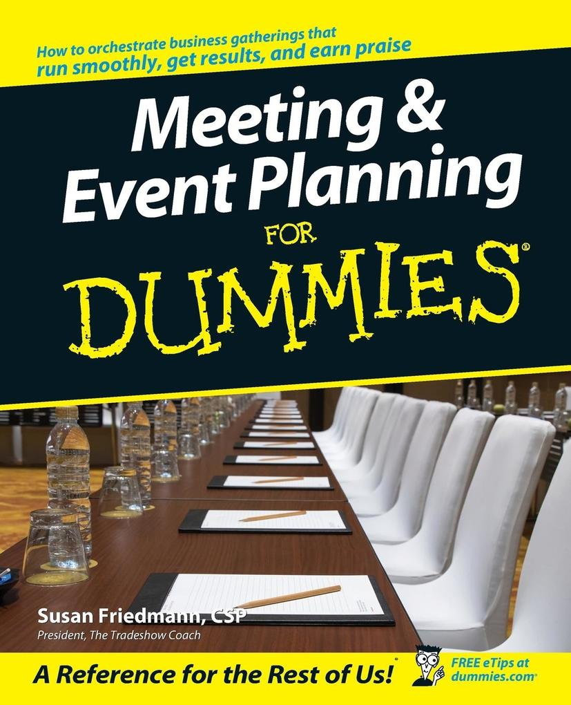 Meeting & Event Planning for Dummies als Buch