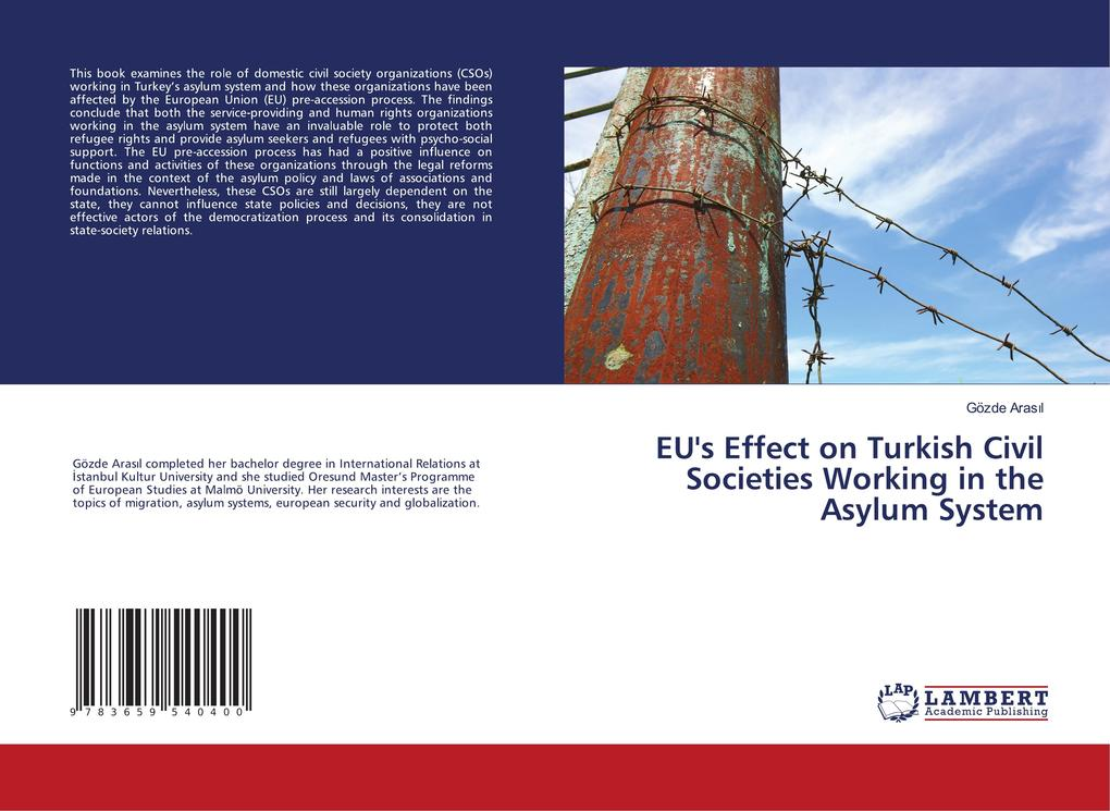 EU's Effect on Turkish Civil Societies Working in the Asylum System als Buch (gebunden)