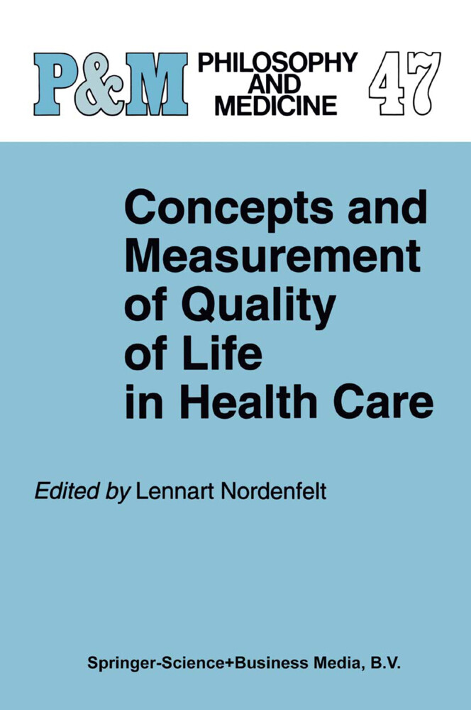 Concepts and Measurement of Quality of Life in Health Care als Buch