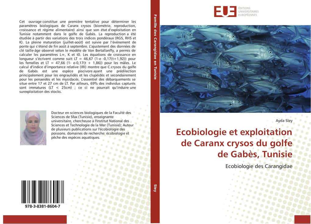 Ecobiologie et exploitation de Caranx crysos du golfe de Gabès, Tunisie als Buch (gebunden)