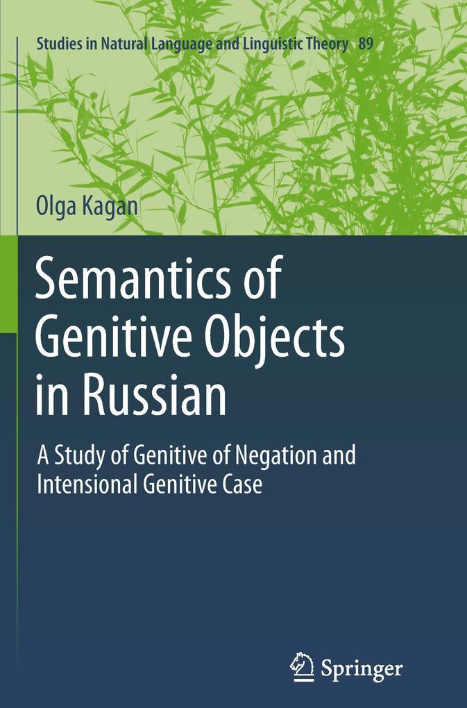 Semantics of Genitive Objects in Russian als Buch (gebunden)