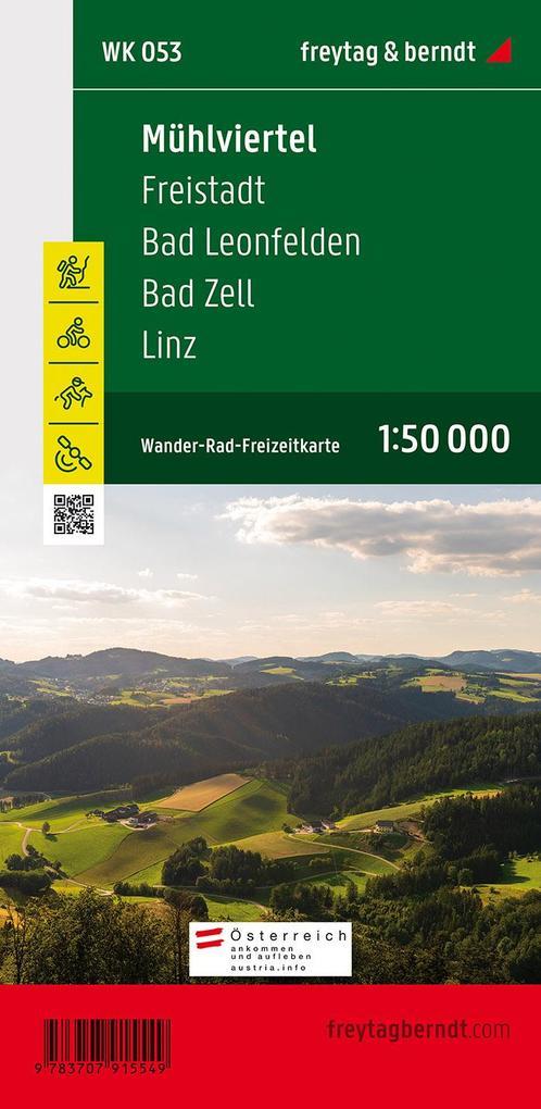 Mühlviertel - Freistadt - Bad Leonfelden - Bad Zell - Linz 1 : 50.000 als Blätter und Karten