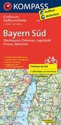Bayern Süd, Oberbayern, Chiemsee, Ingolstadt, Passau, München 1:125 000