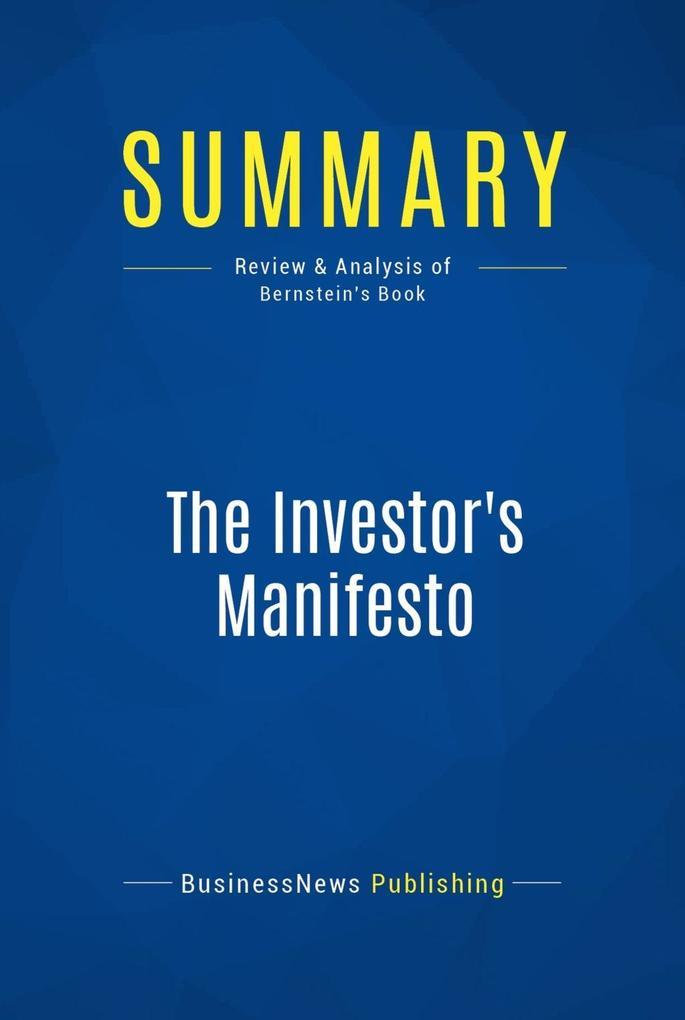 Summary: The Investor´s Manifesto als eBook Dow...