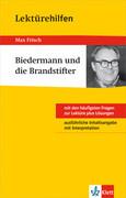"""Klett Lektürehilfen Max Frisch """"Biedermann und die Brandstifter"""""""