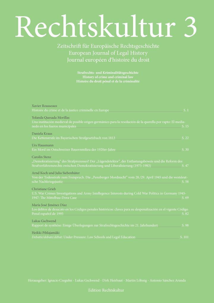 Rechtskultur 3 - Zeitschrift für Europäische Re...