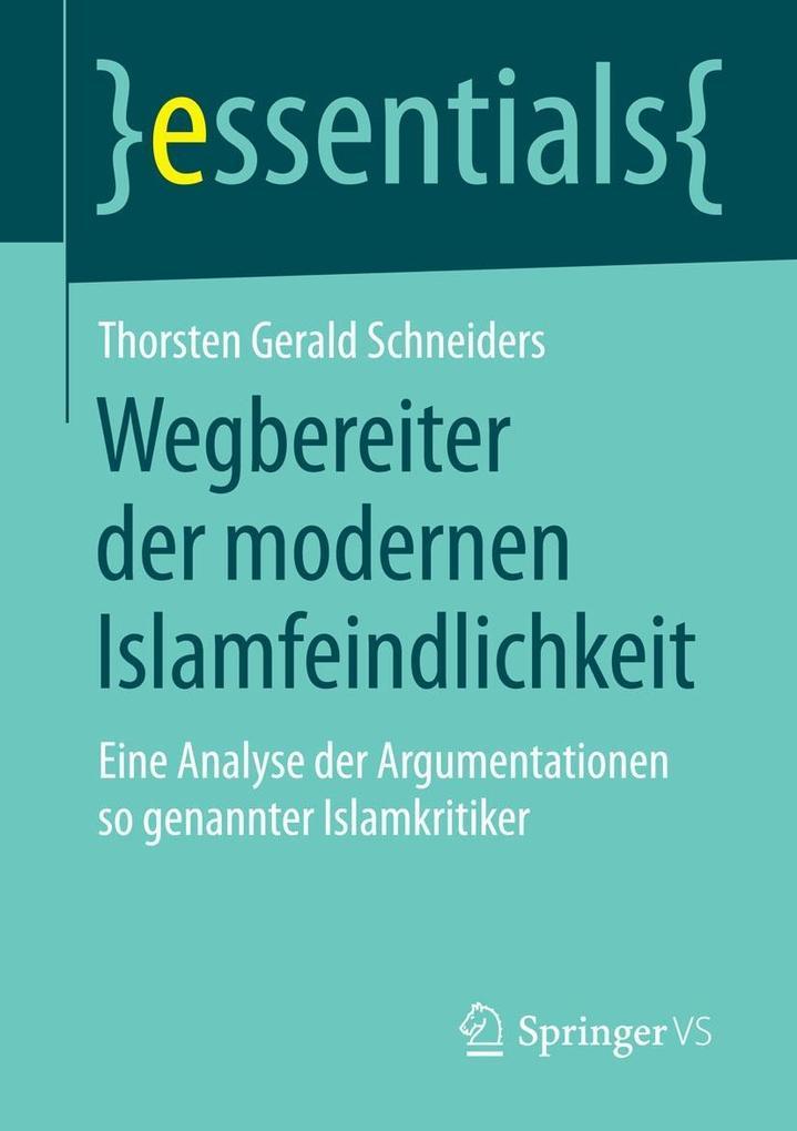 Wegbereiter der modernen Islamfeindlichkeit als eBook pdf