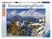 Ravensburger Puzzle - Schloß Neuschwanstein im Winter, 3000 Teile