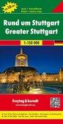 Rund um Stuttgart, Top 10 Tips, Autokarte 1:150.000