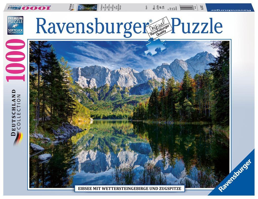 Eibsee mit Wettersteingebirge und Zugspitze. Puzzle 1000 Teile als sonstige Artikel