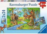 Ravensburger Puzzle - Tiere des Waldes 2x24 Teile