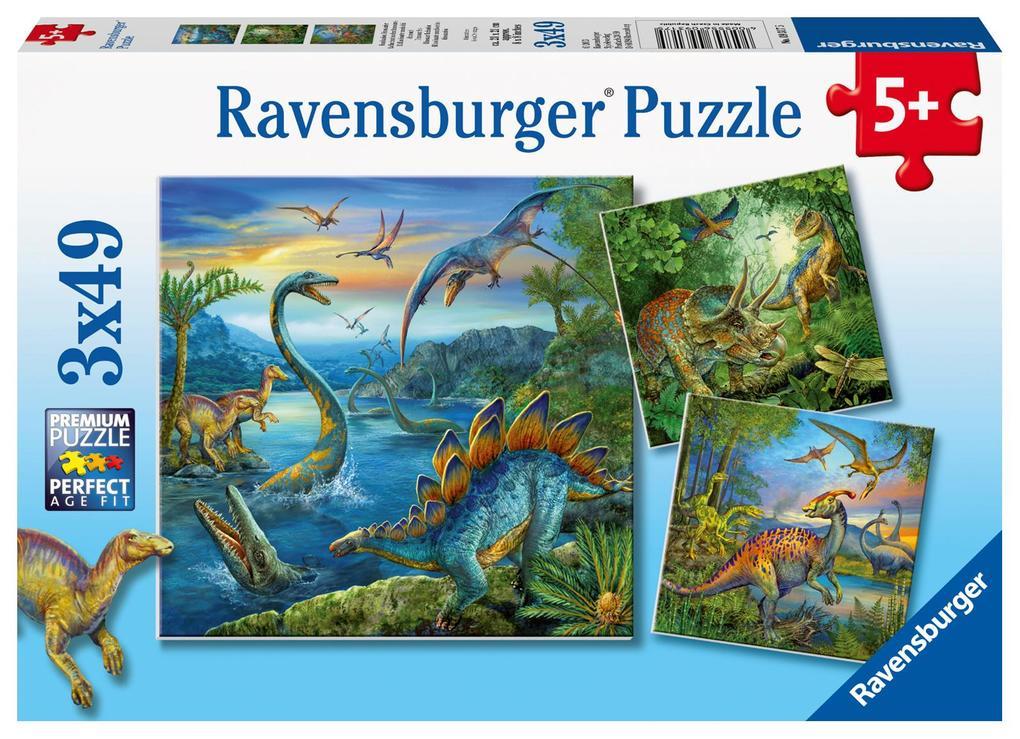 Faszination Dinosaurier. Puzzle 3 X 49 Teile als sonstige Artikel