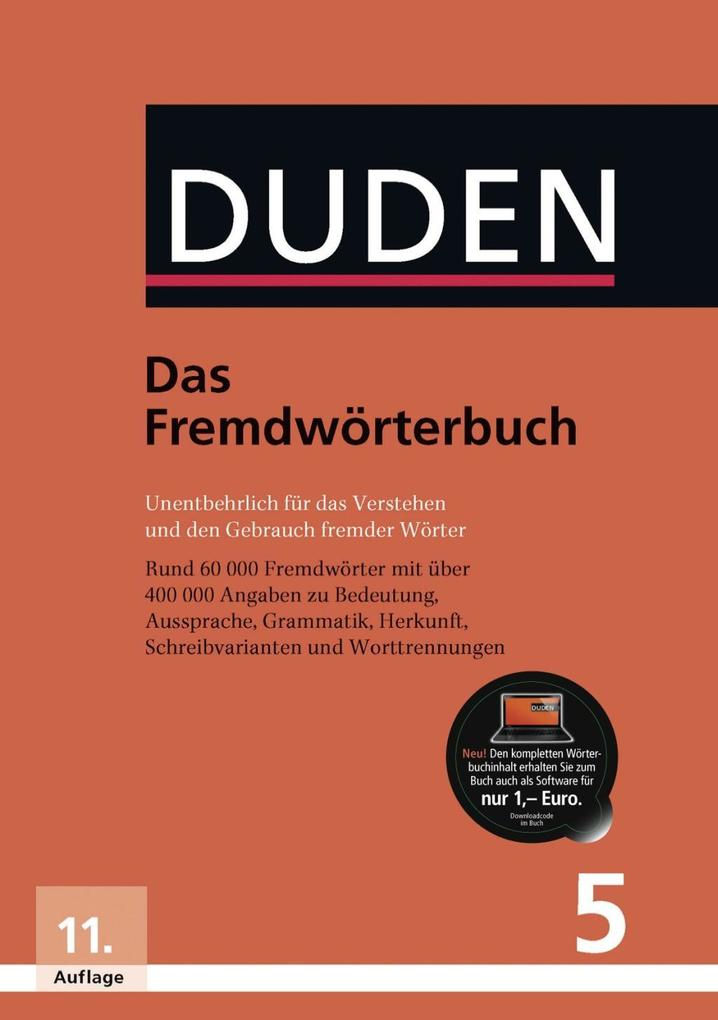 Duden 05. Das Fremdwörterbuch als Buch