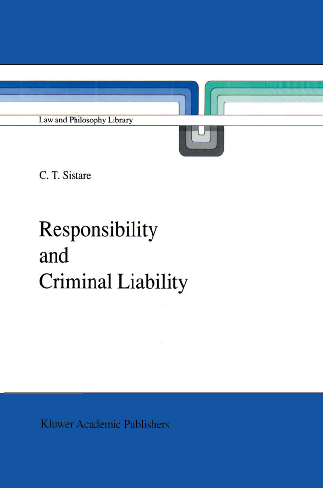 Responsibility and Criminal Liability als Buch