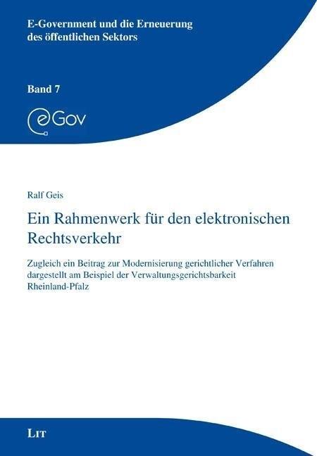 Ein Rahmenwerk für den elektronischen Rechtsver...