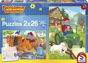 Benjamin Blümchen, Benjamin in Aktion. Puzzle 2 x 26 Teile