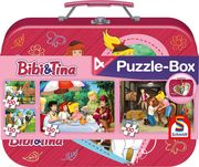 Bibi & Tina, 2 x 100, 2 x 150 Puzzle Teile im Metallkoffer