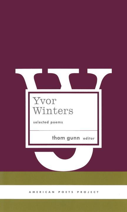 Yvor Winters: Selected Poems als Buch
