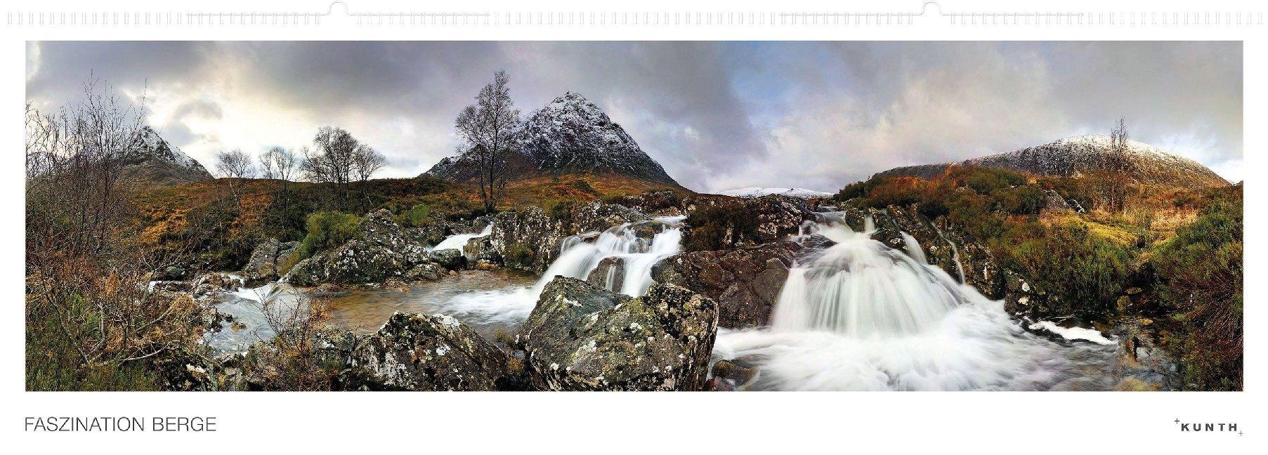 Faszination Berg Panoramakalender, immerwährend als Kalender