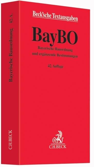 Bayerische Bauordnung als Buch