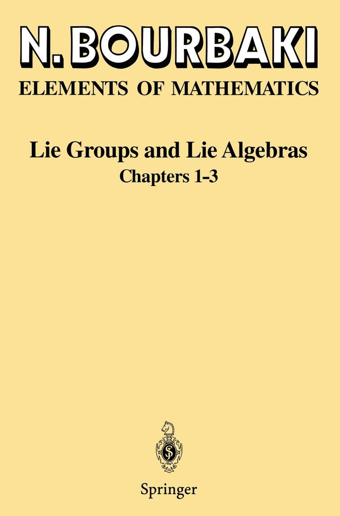 Lie Groups and Lie Algebras als Buch