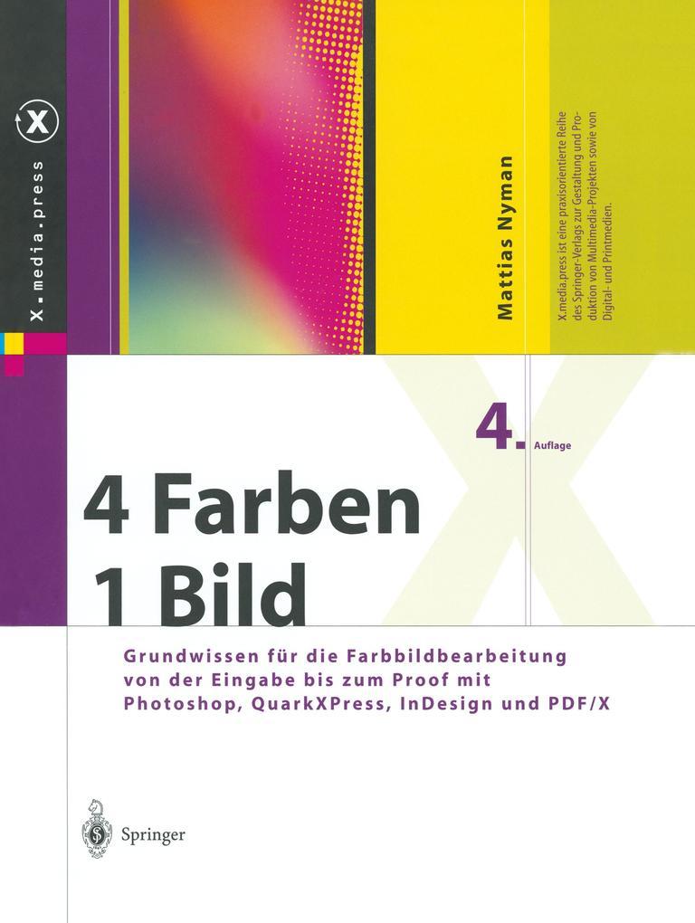 Vier Farben, ein Bild als Buch