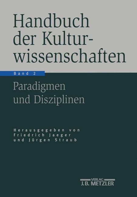 Handbuch der Kulturwissenschaften als Buch