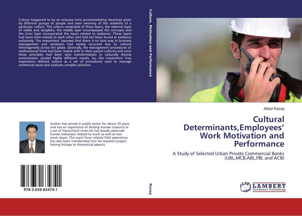Cultural Determinants,Employees´ Work Motivatio...