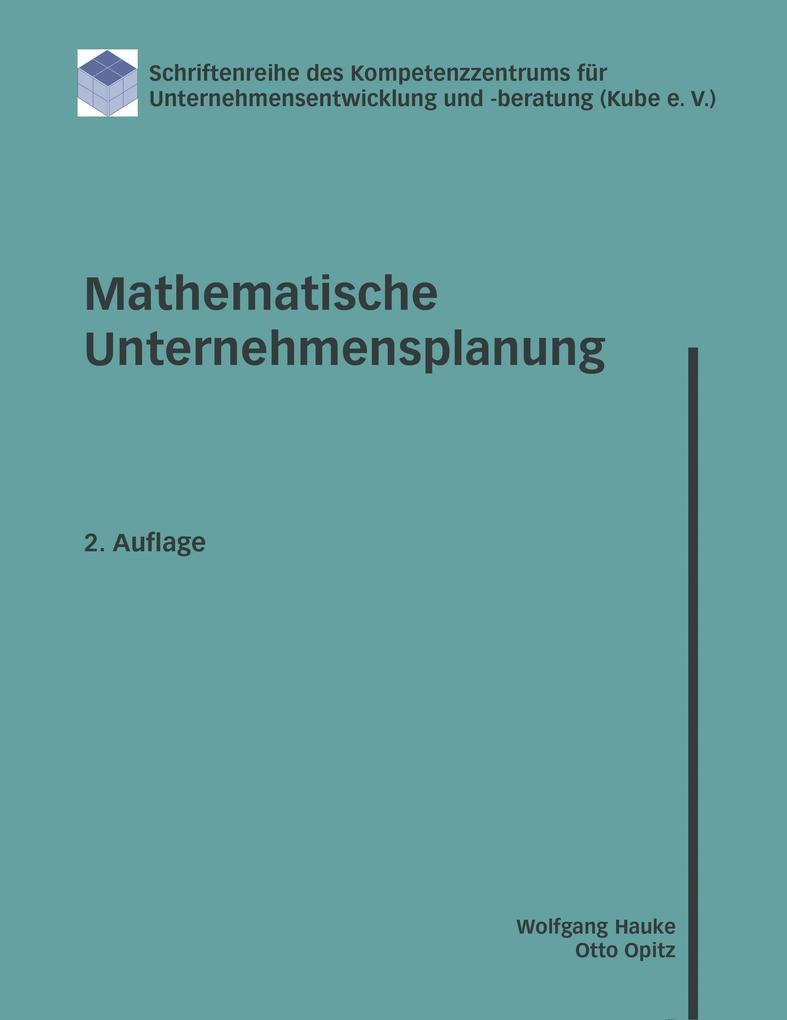 Mathematische Unternehmensplanung als Buch