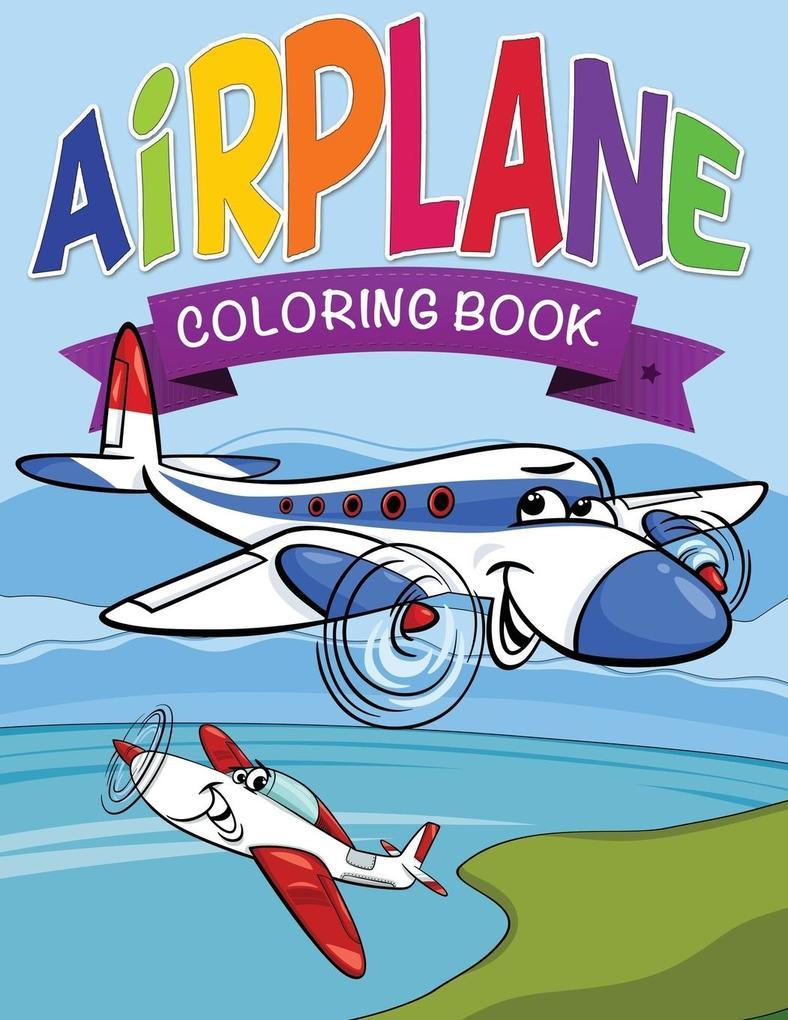 Airplane Coloring Book for Kids als Buch von Sp...