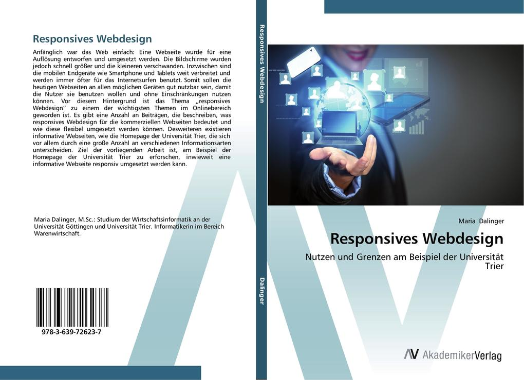 Responsives Webdesign als Buch von Maria Dalinger