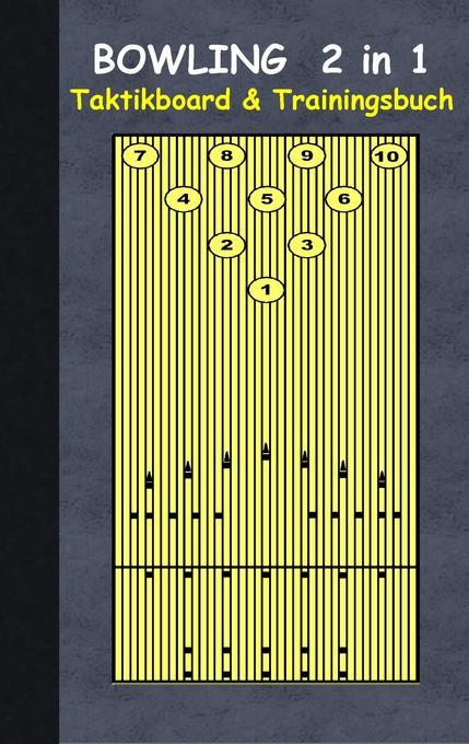 Bowling 2 in 1 Taktikboard und Trainingsbuch al...