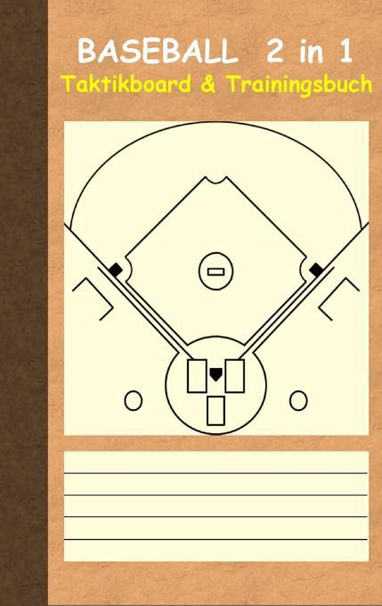 Baseball 2 in 1 Taktikboard und Trainingsbuch a...