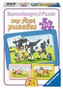 Gute Tierfreunde. My first puzzle - Rahmenpuzzle 3 x 6 Teile