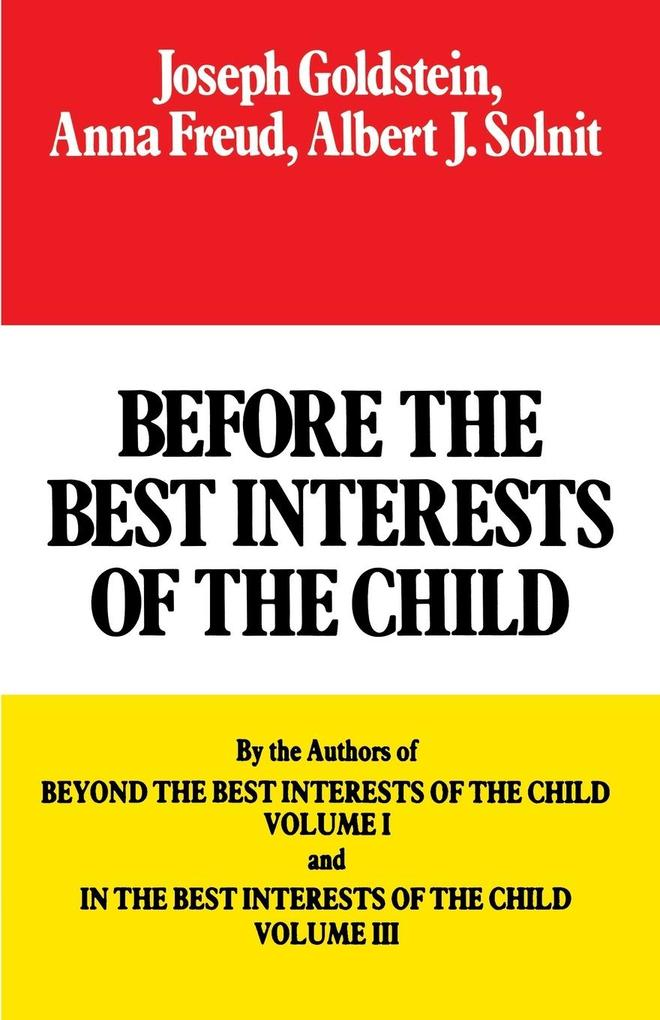 Before the Best Interests of the Child als Taschenbuch