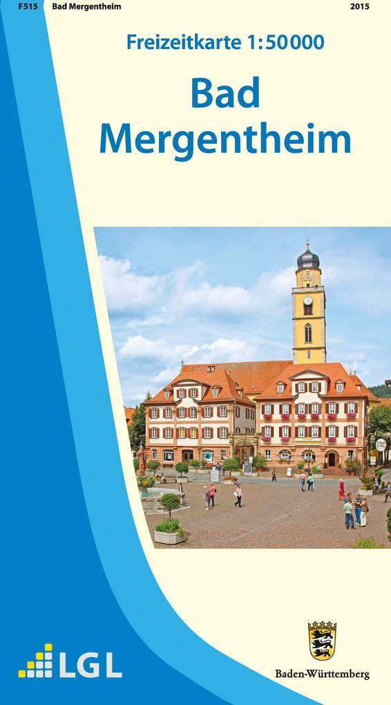 Freizeitkarte Bad Mergentheim 1 : 50 000 als Bu...