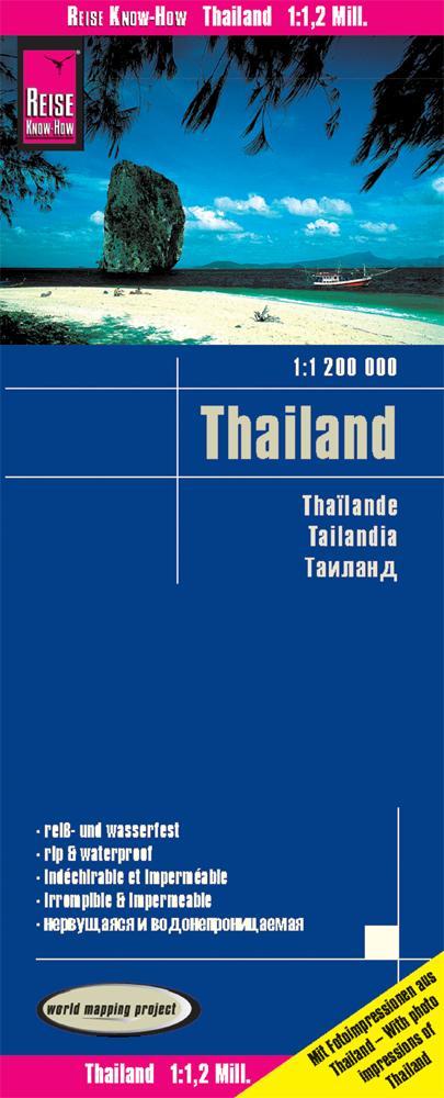 Reise Know-How Landkarte Thailand 1 : 1.200.000...
